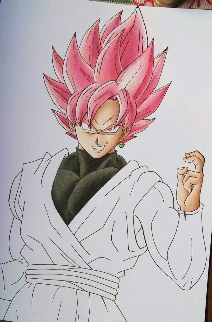 Dibujo Goku Black Ssj Rose Arte Amino Amino