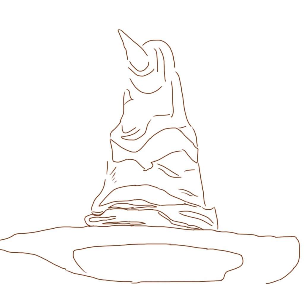 On This LayerI Basically Colored In The Sorting Hat Im Not Very Good At Blending So I Used Two Shades Of Brown And A Black