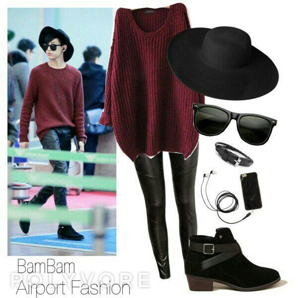 bambam airport fashion korean fashion amino