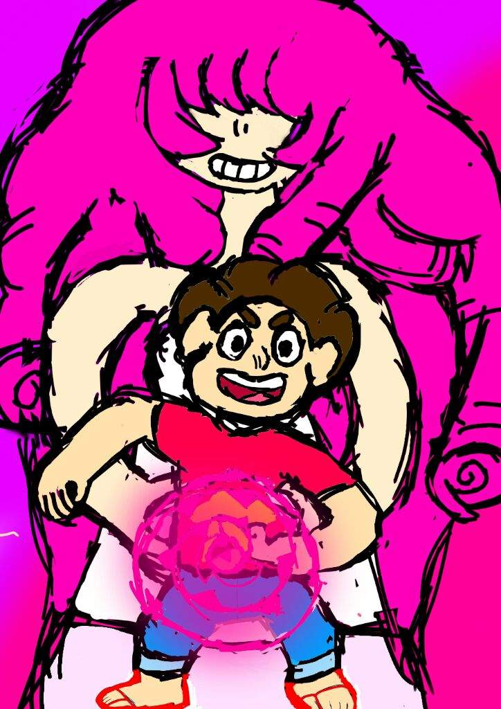 Some Drawings Of Steven And Rose Quartz Steven Universe Amino