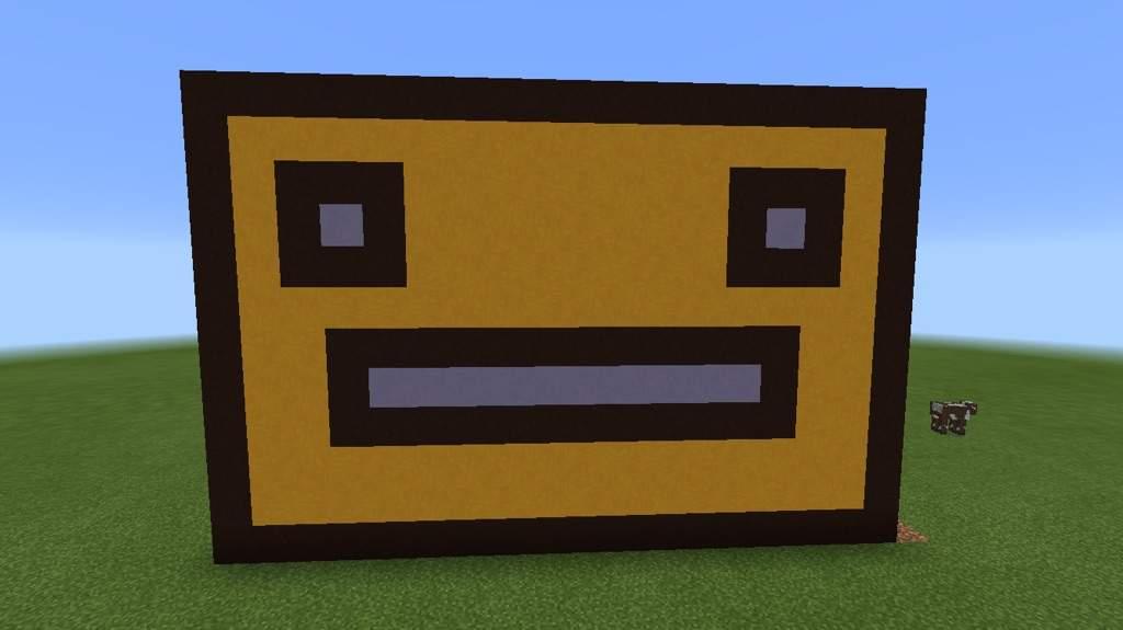 Building a geometry dash icon in Minecraft | Geometry Dash Amino