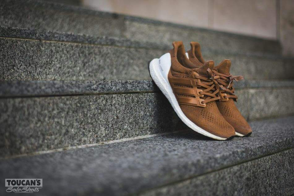 """separation shoes 53335 0e998 ... the adidas Ultra Boost """"Hazelnut"""" Custom by Dent Kicks Custom sees the  shoe leaning towards lifestyle even more, sporting a coffee colorway that  would ..."""