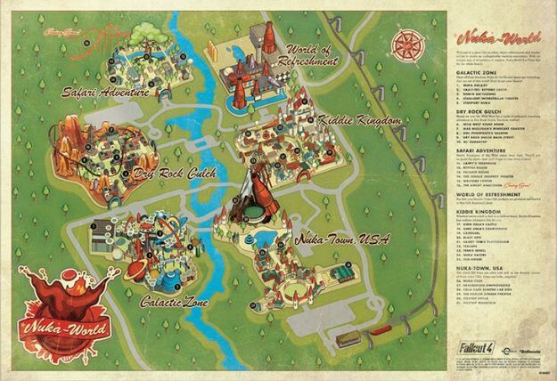 Size of nuka worlds mapwith Boston map Fallout Amino