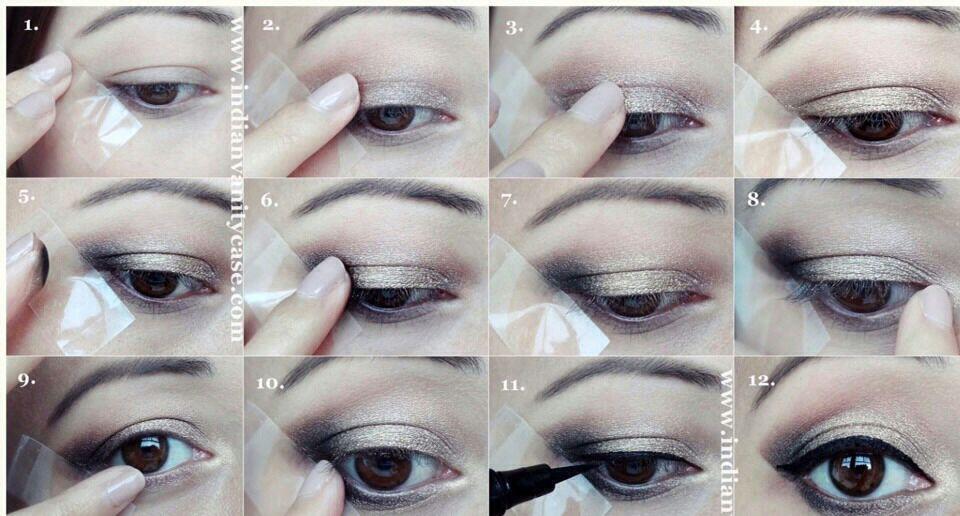 Truco De La Cinta Adhesiva Para Maquillaje De Ojo   Zona de Belleza ...