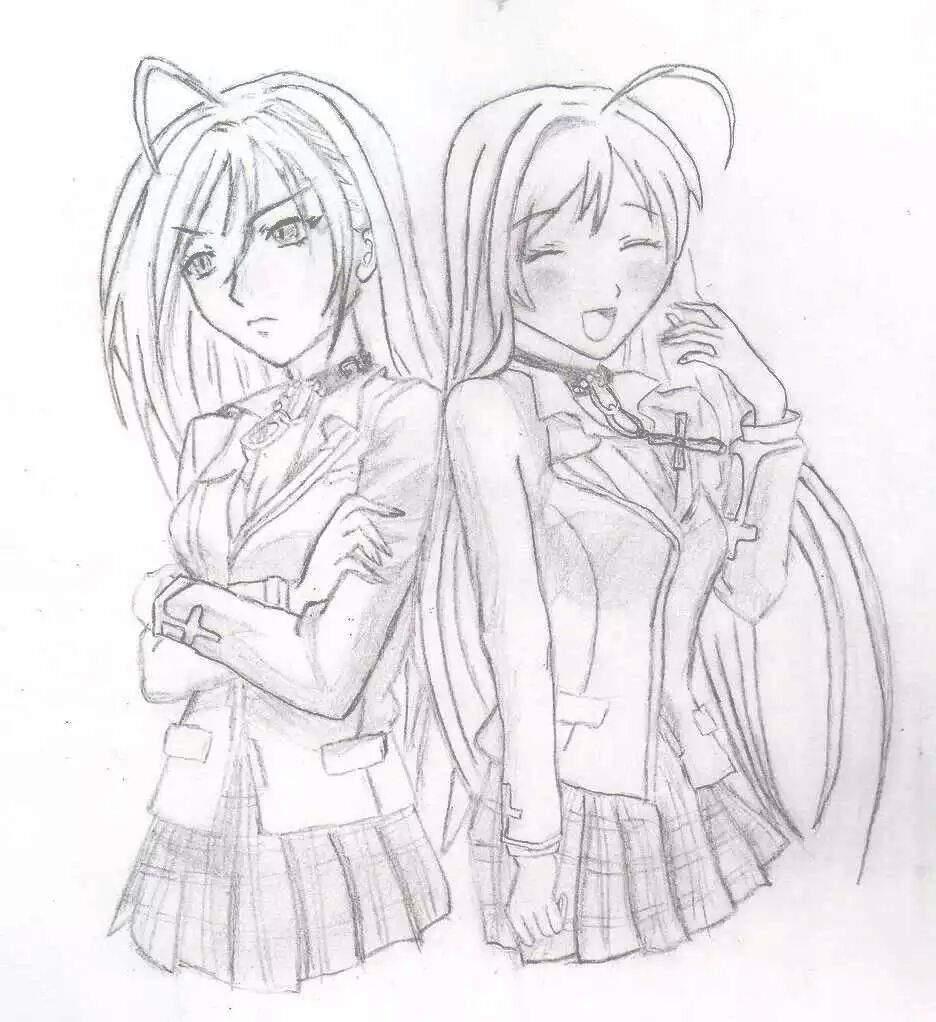 Anime De Rosario Vampire dibujo de rosario + vampire :3 | anime amino