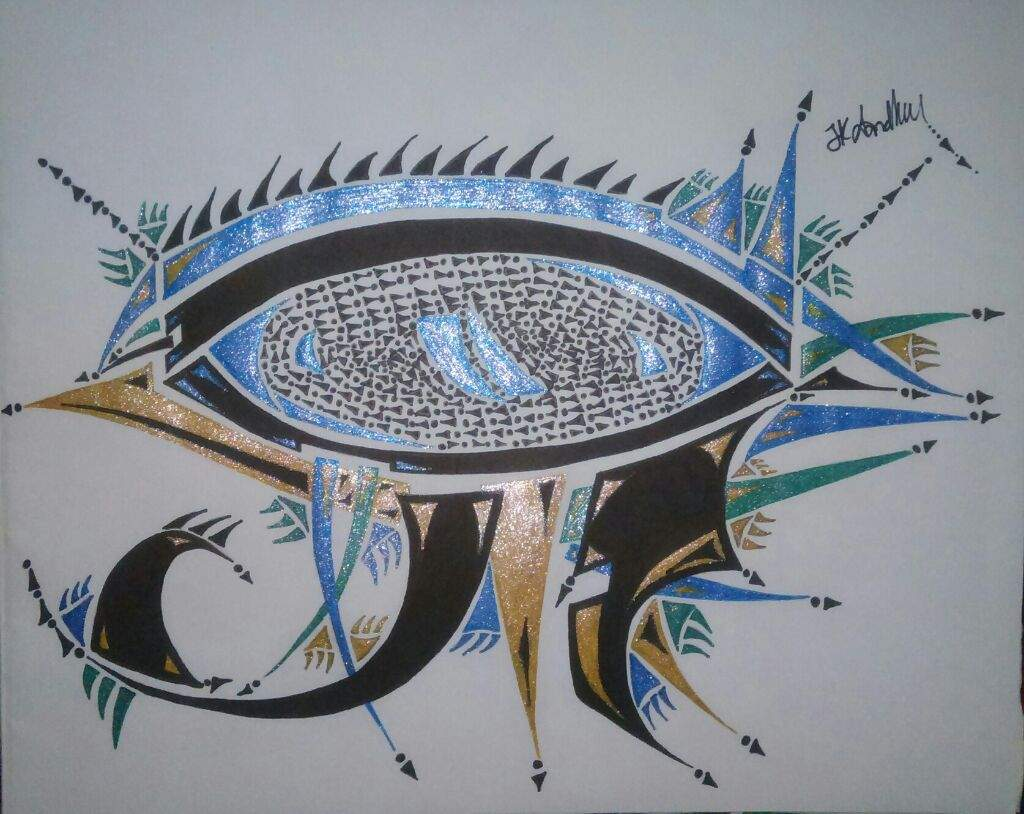 Eye of horus graffiti
