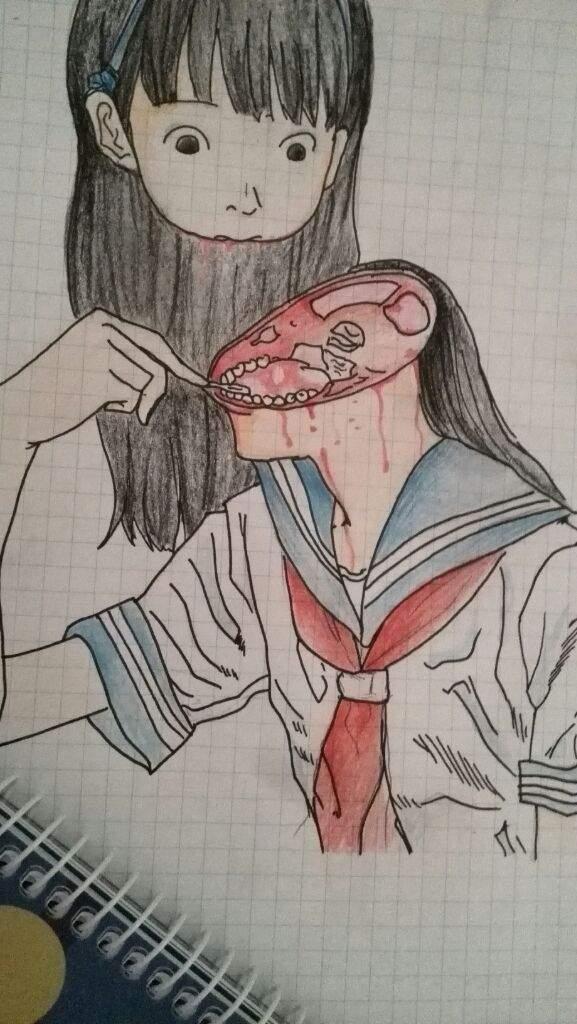 Dibujo gore en el cole v anime amino for Imagenes de anime gore