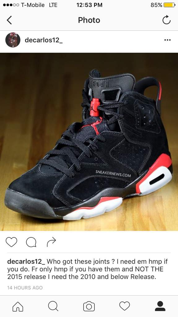 separation shoes 3bd38 d65fe I need the black Varsity Red 6s | Sneakerheads Amino