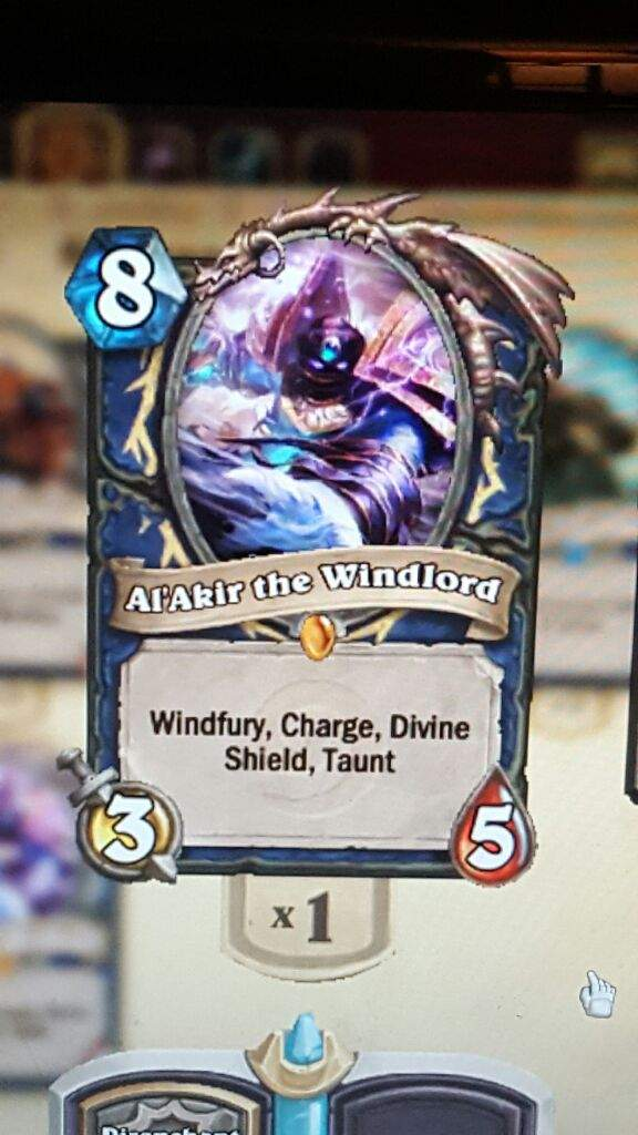 just got Al'akir the windlord is he worth keeping or dusting ? |  Hearthstone Amino