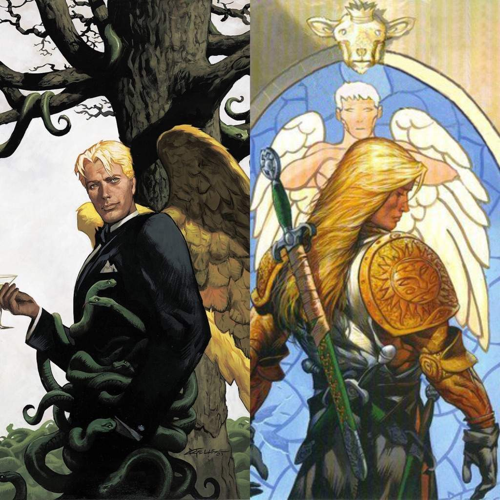 Lucifer Morningstar: Lucifer Morningstar And Michael Demiurgos (Vertigo/DC) Vs