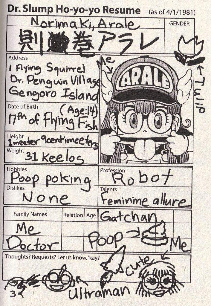 Arale | Wiki | Dragon Ball & Bird Studio Amino