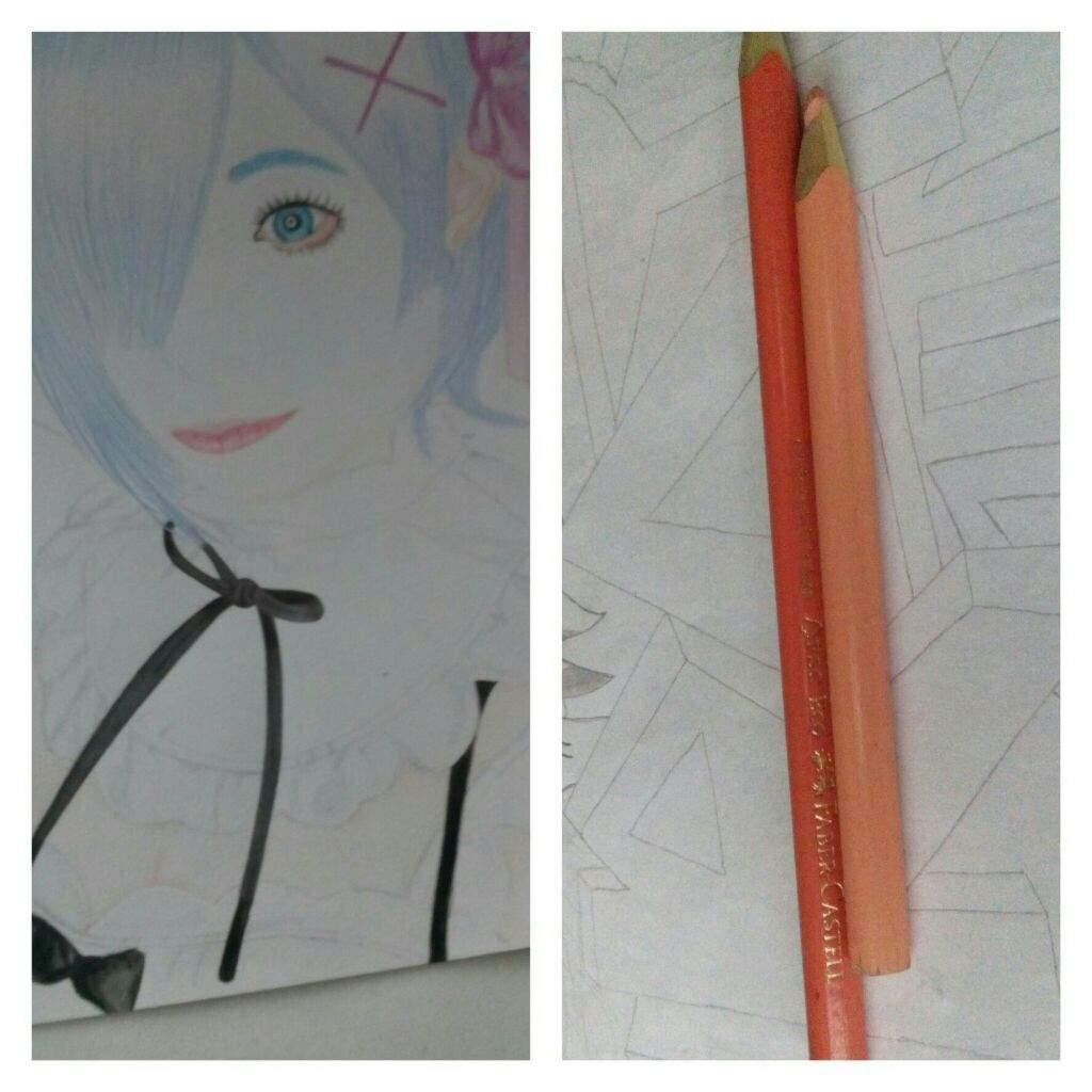 Proceso de Dibujo Rem Re:Zero HDC   •Anime• Amino