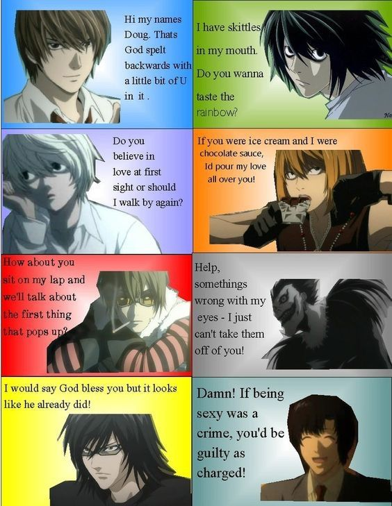 Death Note Pickup Lines Death Note Amino