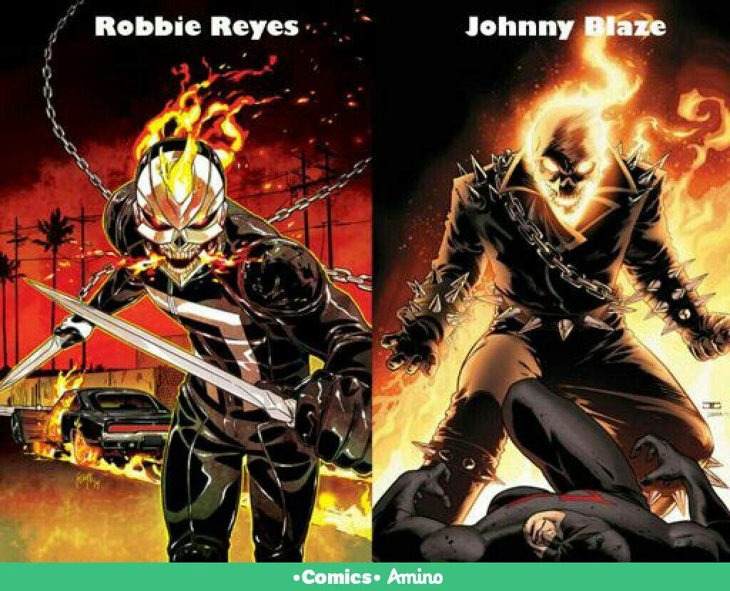 Johnny Blaze VS Robbie Reyes | •Cómics• Amino