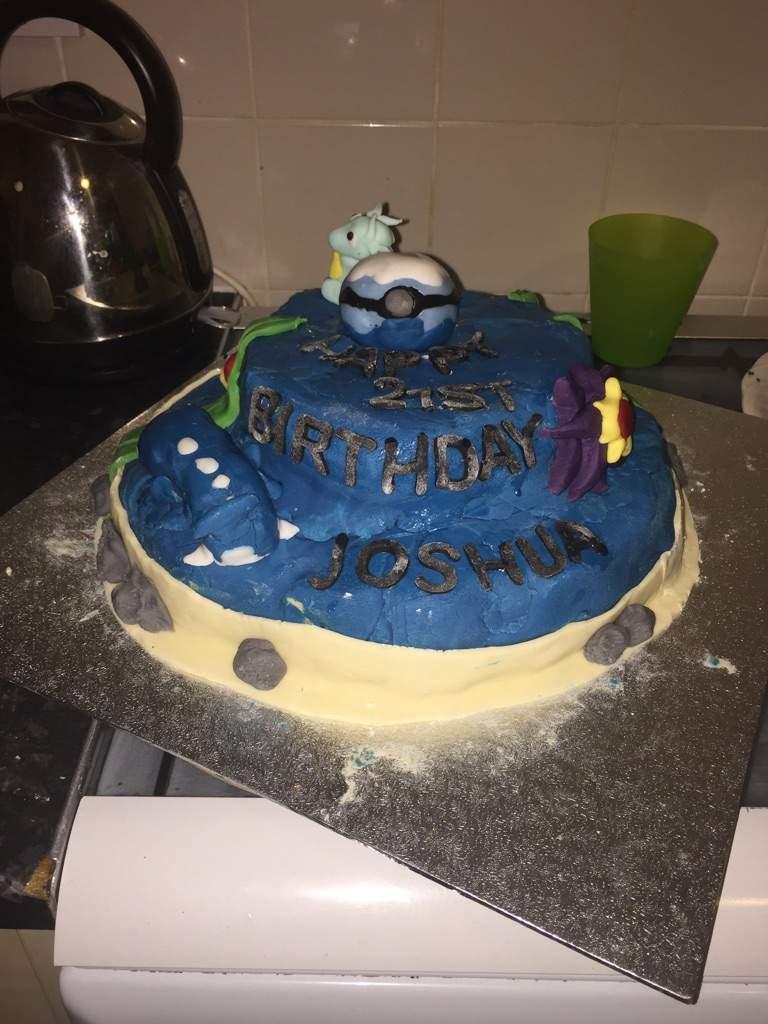 Pokmon Water Type Birthday Cake
