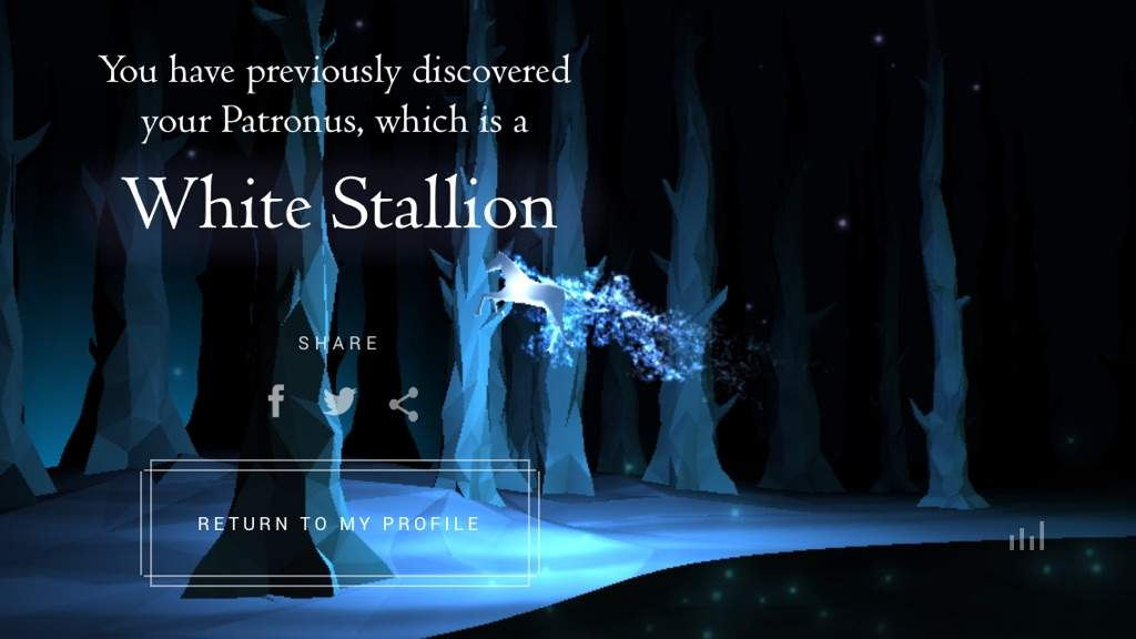 how to get a wolf patronus on pottermore