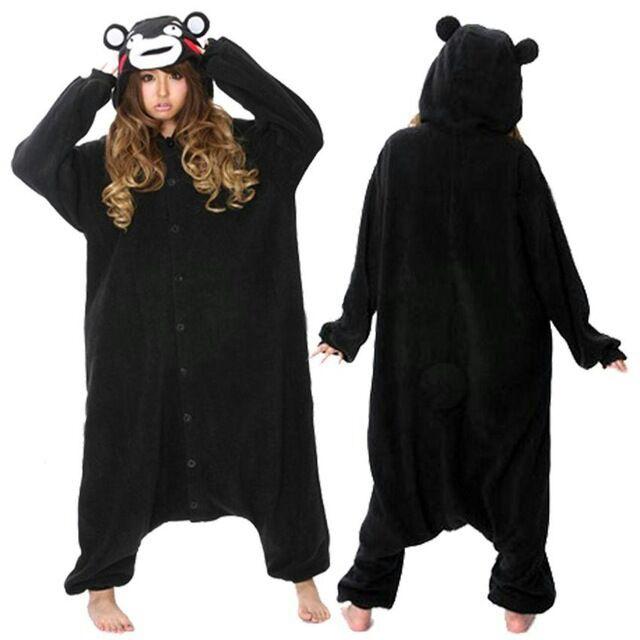 Online Shop Adult Japan Black Bear Kumamon Onesies Cosplay Costume ... 98ee4d59e