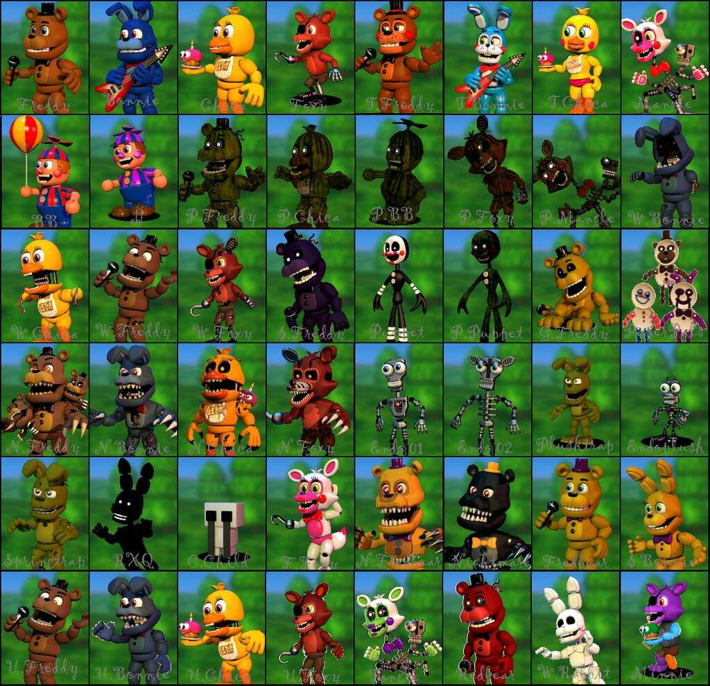 All fnaf word characters! | FNAF World! Amino