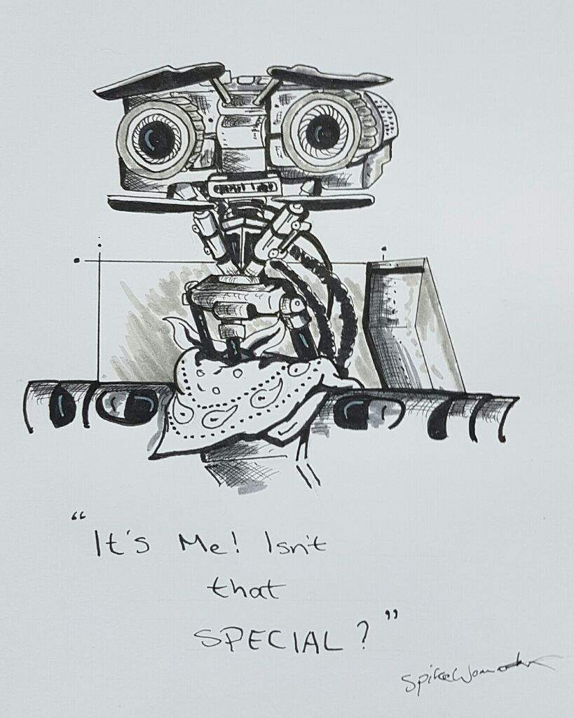 Johnny 5 Inktober Art Amino Five Short Circuit 2 Hi Guys Heres My First Attempt At Its From I Am Pleased With How It Turned Out And Hope You Like Too
