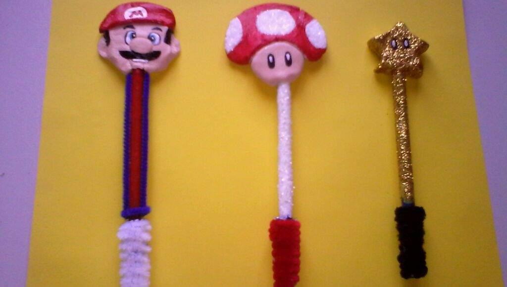 Boligrafos Decorados De Mario Bross Manualidades Bellas1 Amino