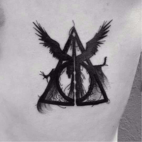 Tatuaje De Símbolo De Las Reliquias De La Muerte Harry Potter