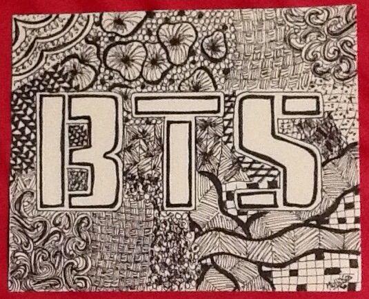 My BTS Zentangle Art ARMY's Amino Interesting Cool Zentangle Patterns