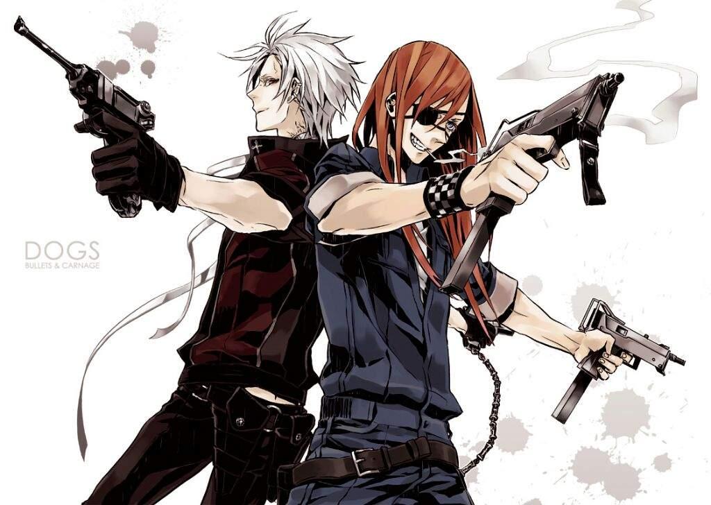Картинки аниме девушка и парень с пистолетами
