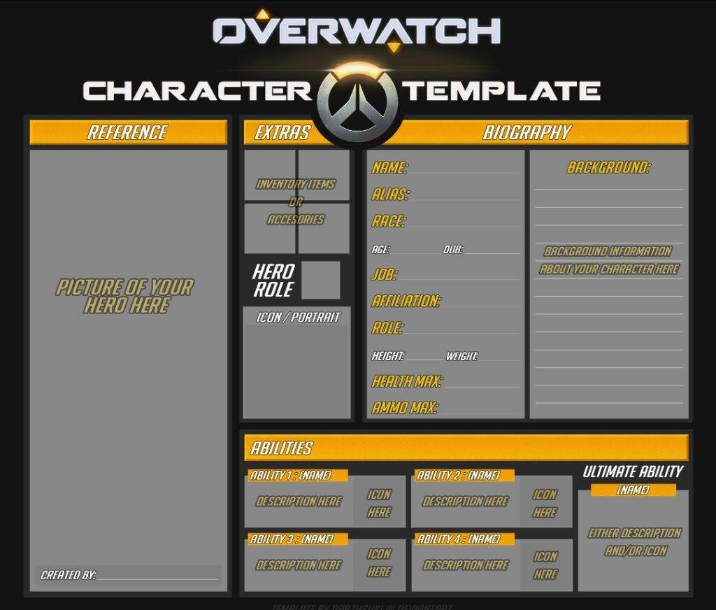 basic oc template wiki overwatch amino. Black Bedroom Furniture Sets. Home Design Ideas