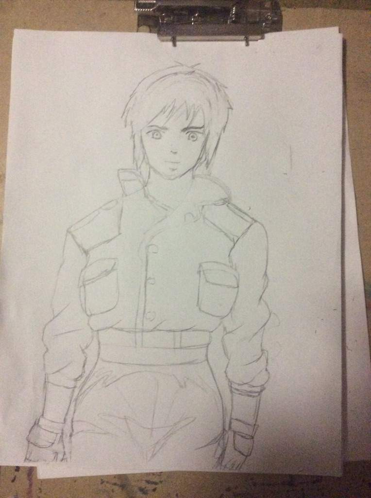 Major From Ghost In The Shell Drawing