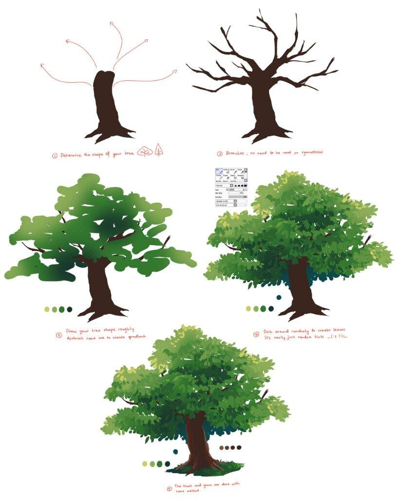 Coloring Trees   Art For Beginners Amino