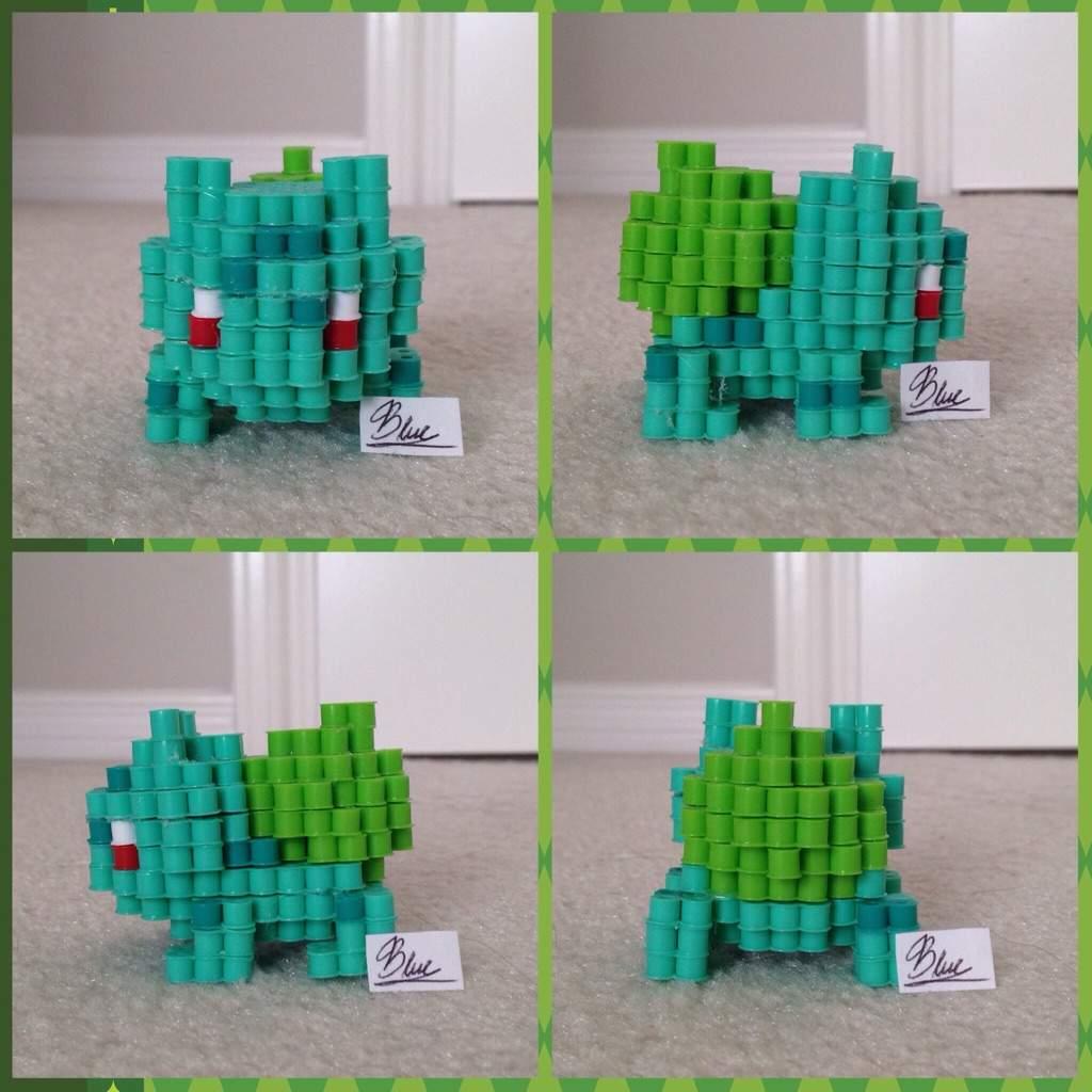 perler beads 3d bulbasaur pokémon amino