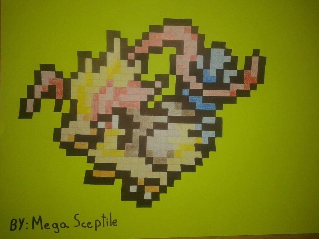 Poke Pixel Art : Mega Pidgeot | •Pokémon• En Español Amino
