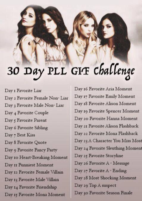 30 Days Pretty Little Liars Challenge