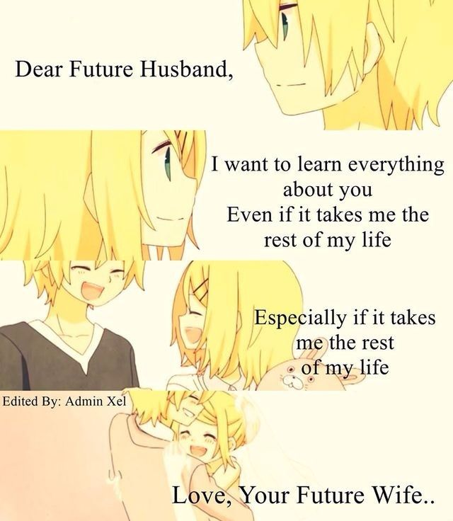 Letter To My Future Wife Our Promise Love Anime Amino