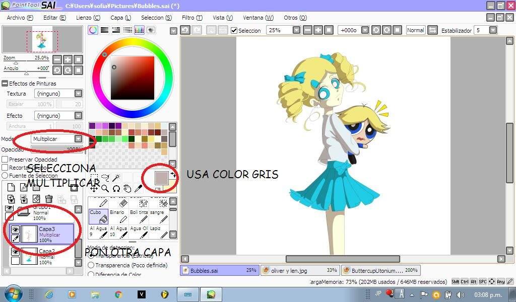 ✨Tutorial de dibujo digital a mouse (Paint tool sai)✨   •Anime• Amino