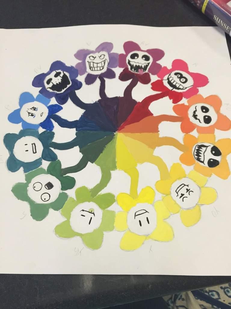 Flowey Color Wheel