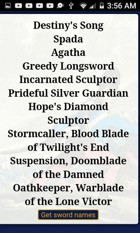 Sword names and stuff XD | Anime Amino