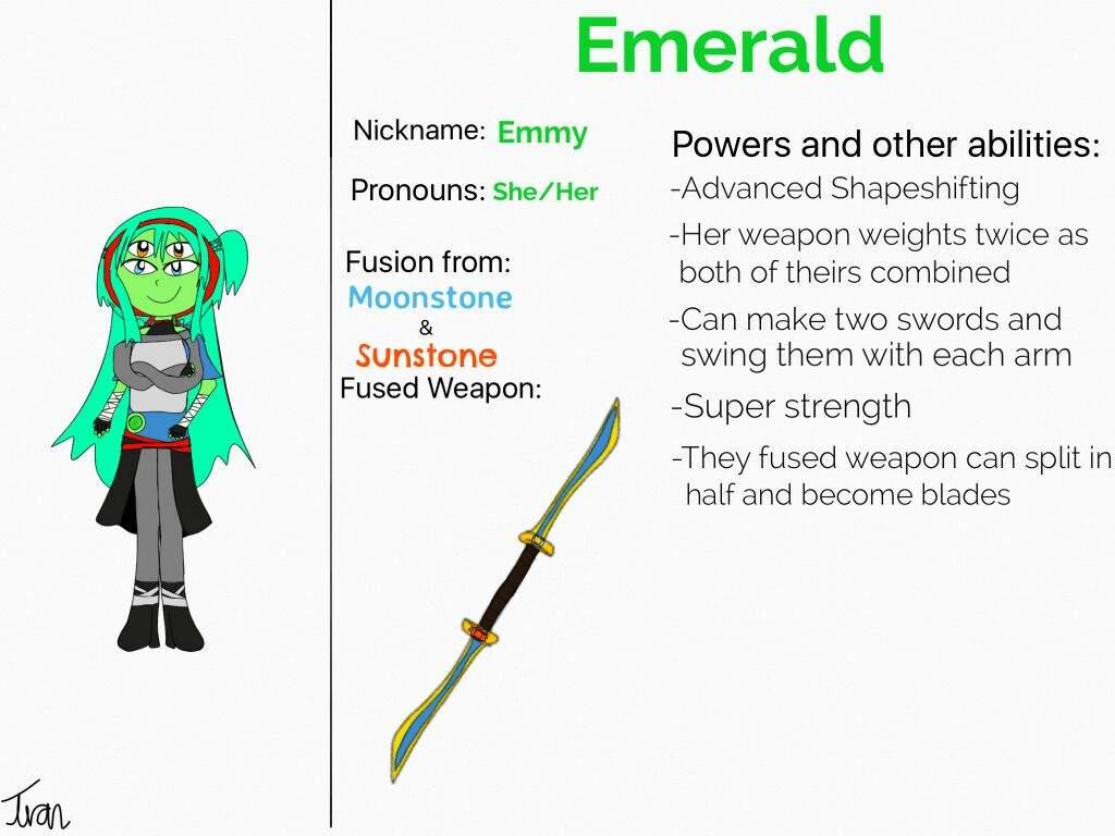 Gemsona Fusion Emerald Steven Universe Amino