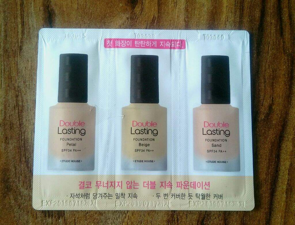 Etude House Double Lasting Foundation Korean Beauty Amino