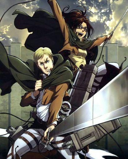 Hange & Erwin Official Art | Wiki | Attack On Titan Amino