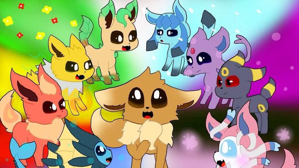 Eeveelutions Wallpaper   Pokémon Amino