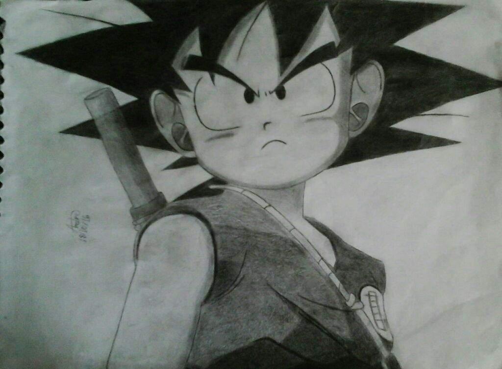 Desenho Goku Pequeno Otanix Amino