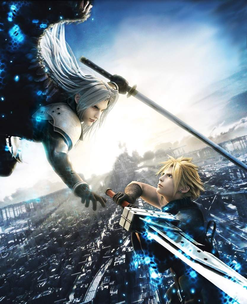 Final Fantasy Cloud Strife Wallpaper: Ichigo & Aizen Vs. Cloud & Sephiroth
