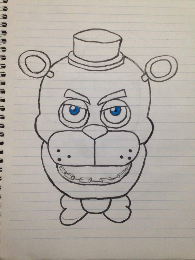 meu desenho da cabeça do freddy five nights at freddys pt br amino
