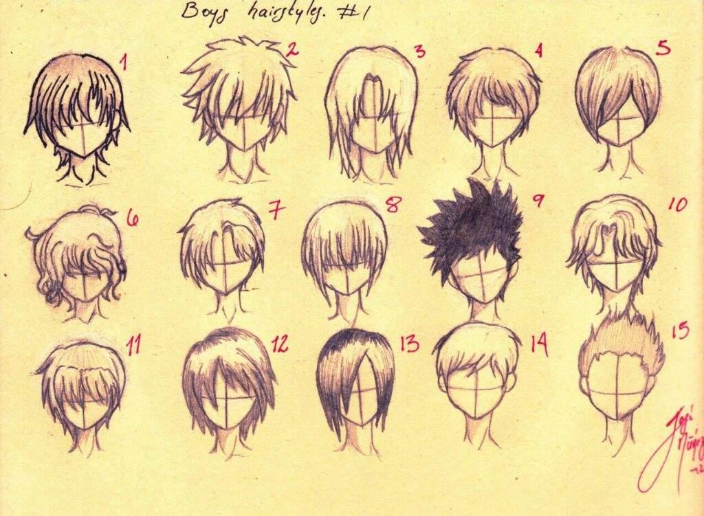 Dibujar Cabello Anime Hombre Hermosos Peinados