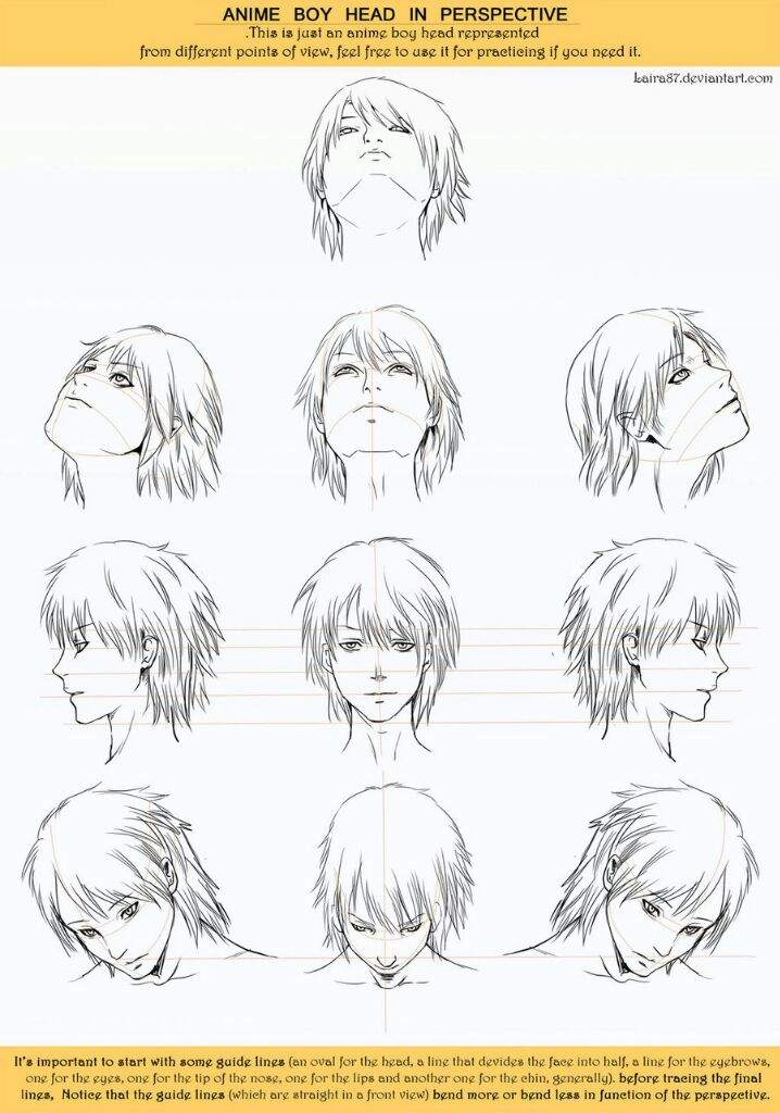MINI TUTORIAL: como dibujar cabello anime (lo principal) | •Arte ...