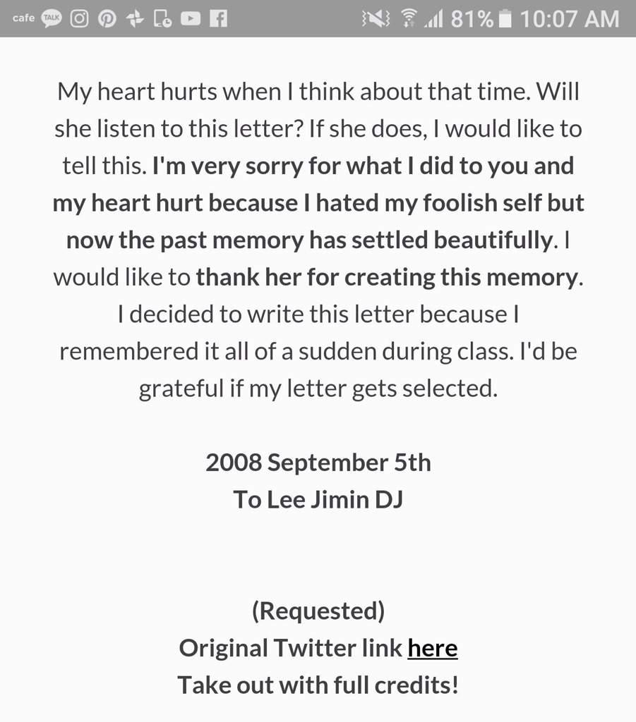 Min Yoongi love letter to ex girlfriend ❤
