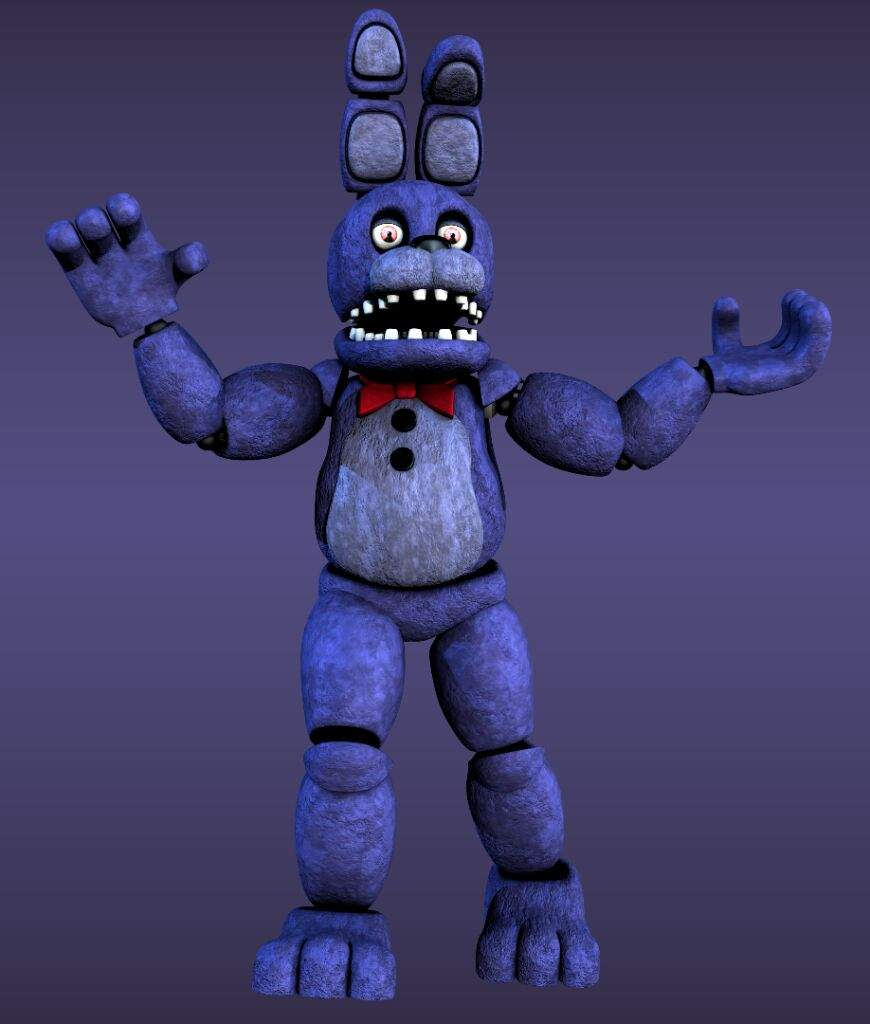 Unwithered bonnie model | Five Nights At Freddy's Amino