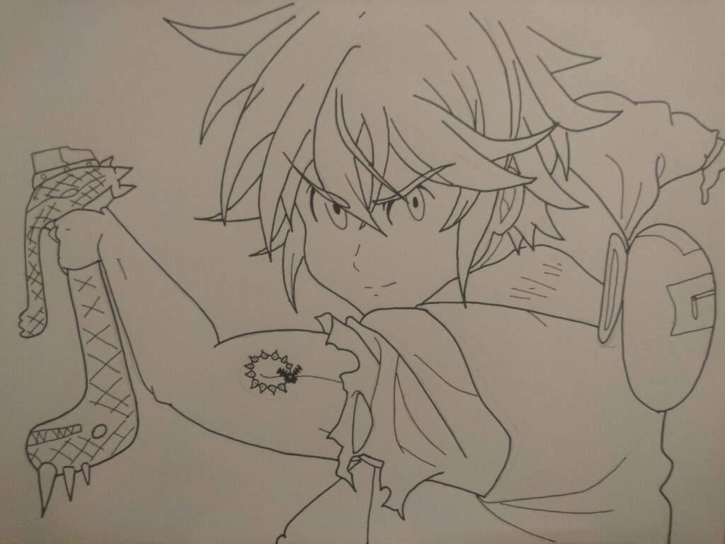 Dibujando a Meliodas de los 7 Pecados Capitales 💪 | •Anime• Amino