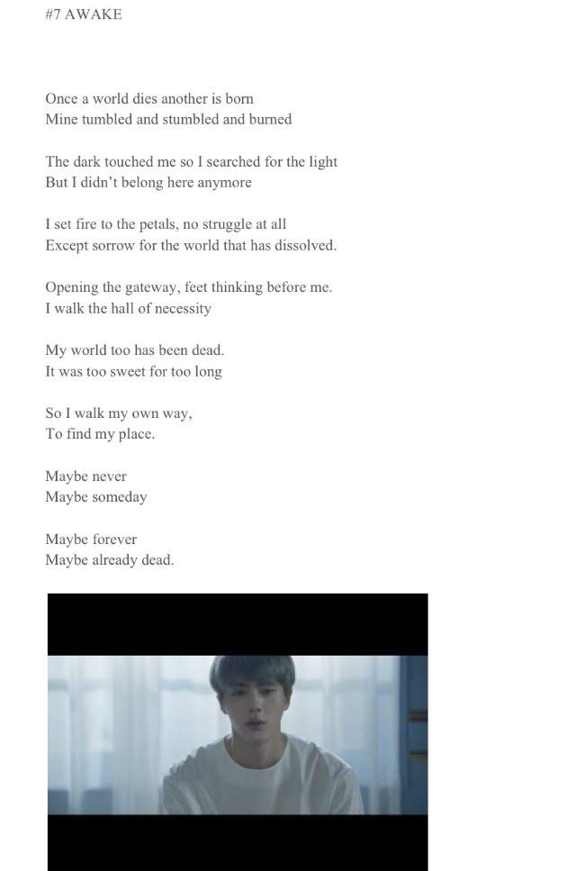 BTS WINGS inspired poems (short film series) | ARMY's Amino